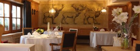 Il ristorante St Hubertus dell'Hotel Rosa Alpina