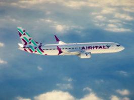 Rendering di un aereo Air Italy in volo