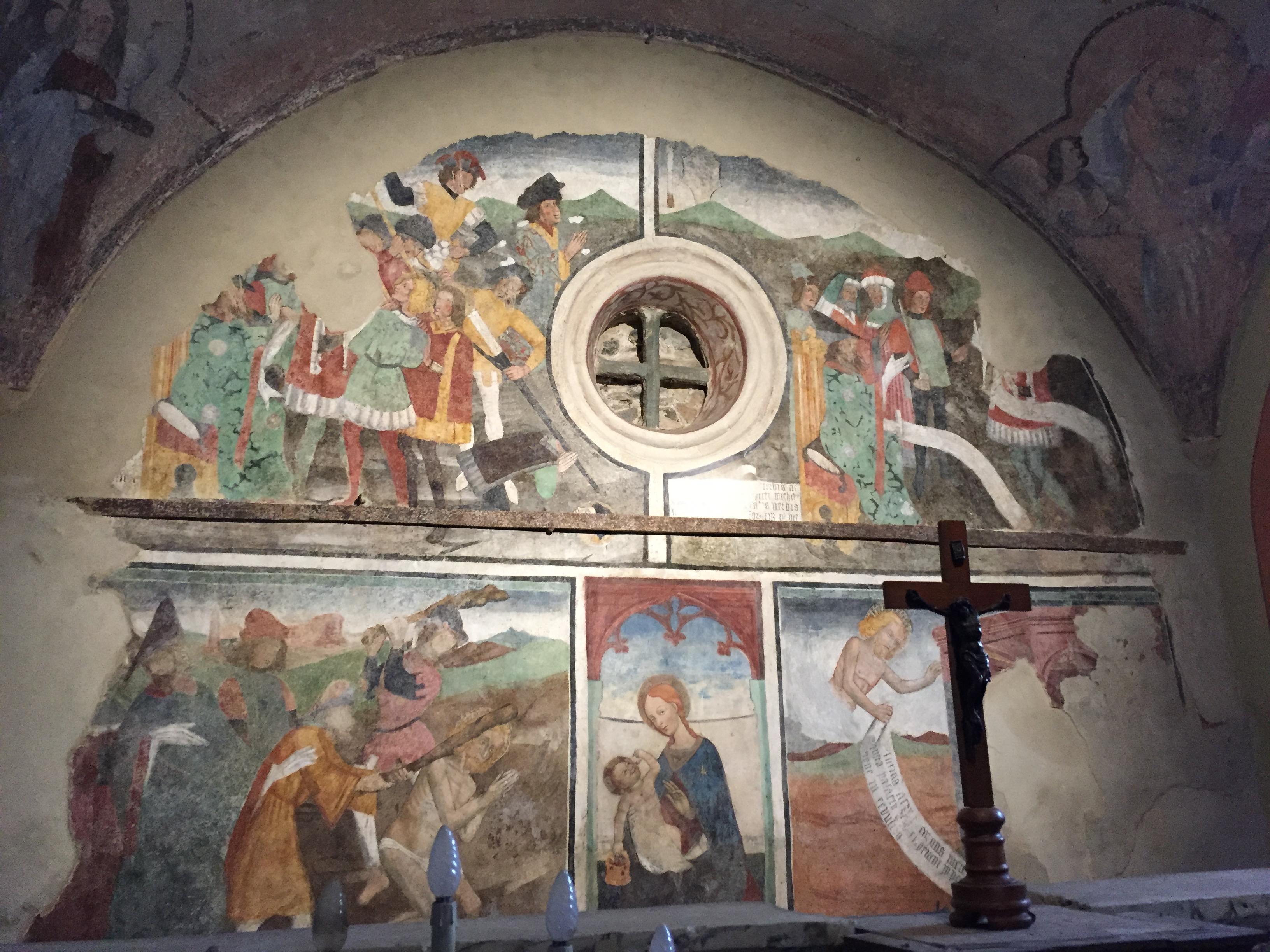 Un affresco della Cappella di San Sebastiano a Giaveno (Diocesi di Torino)