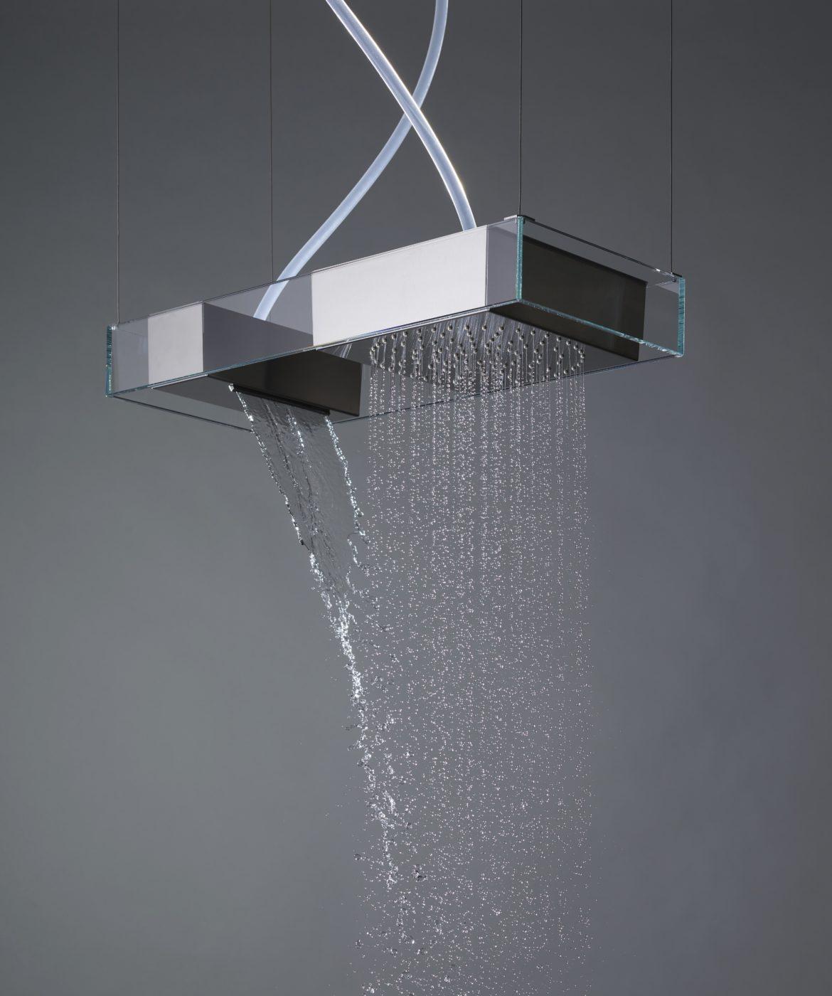 Soffione Moove, installazione a soffitto