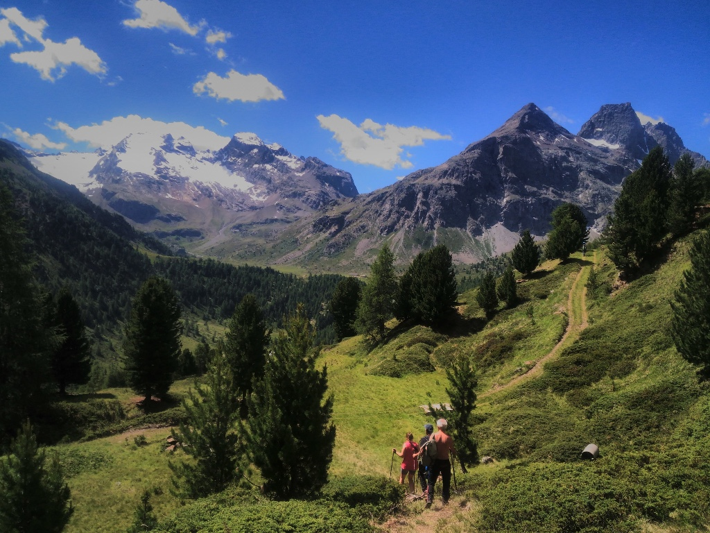 Un sentiero di montagna in Alta Valtellina