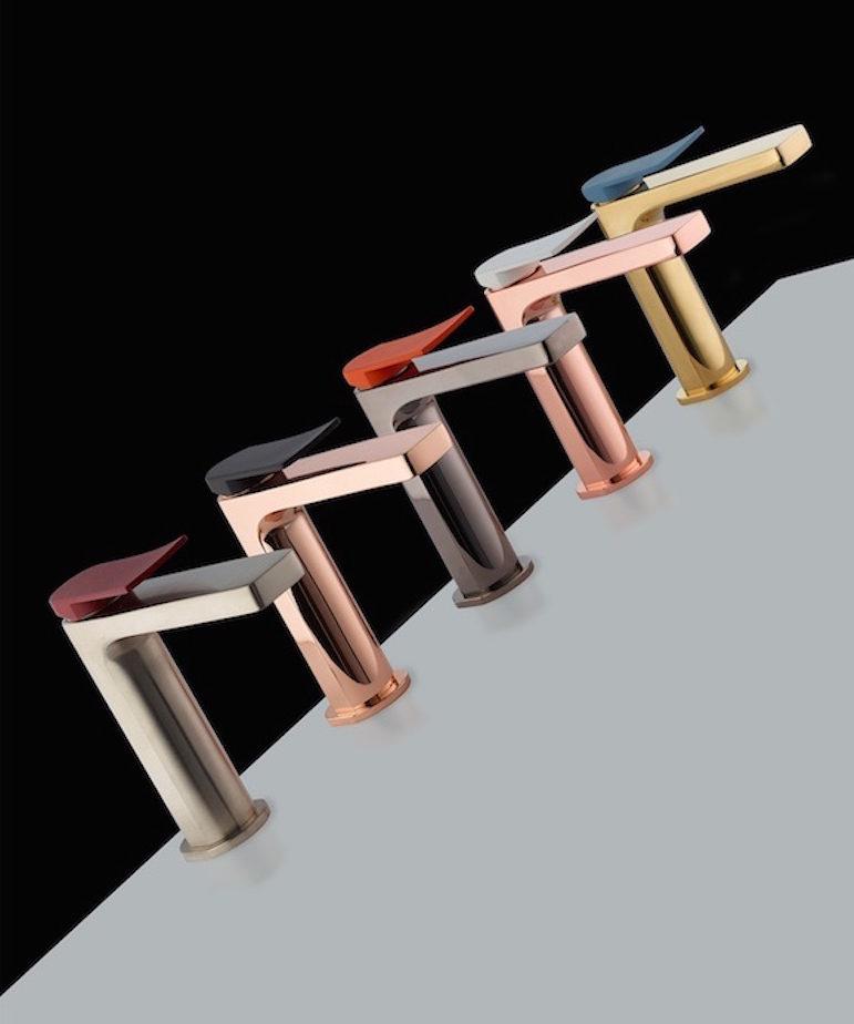 Rubinetti della Collezione Soffio in cinque diverse finiture