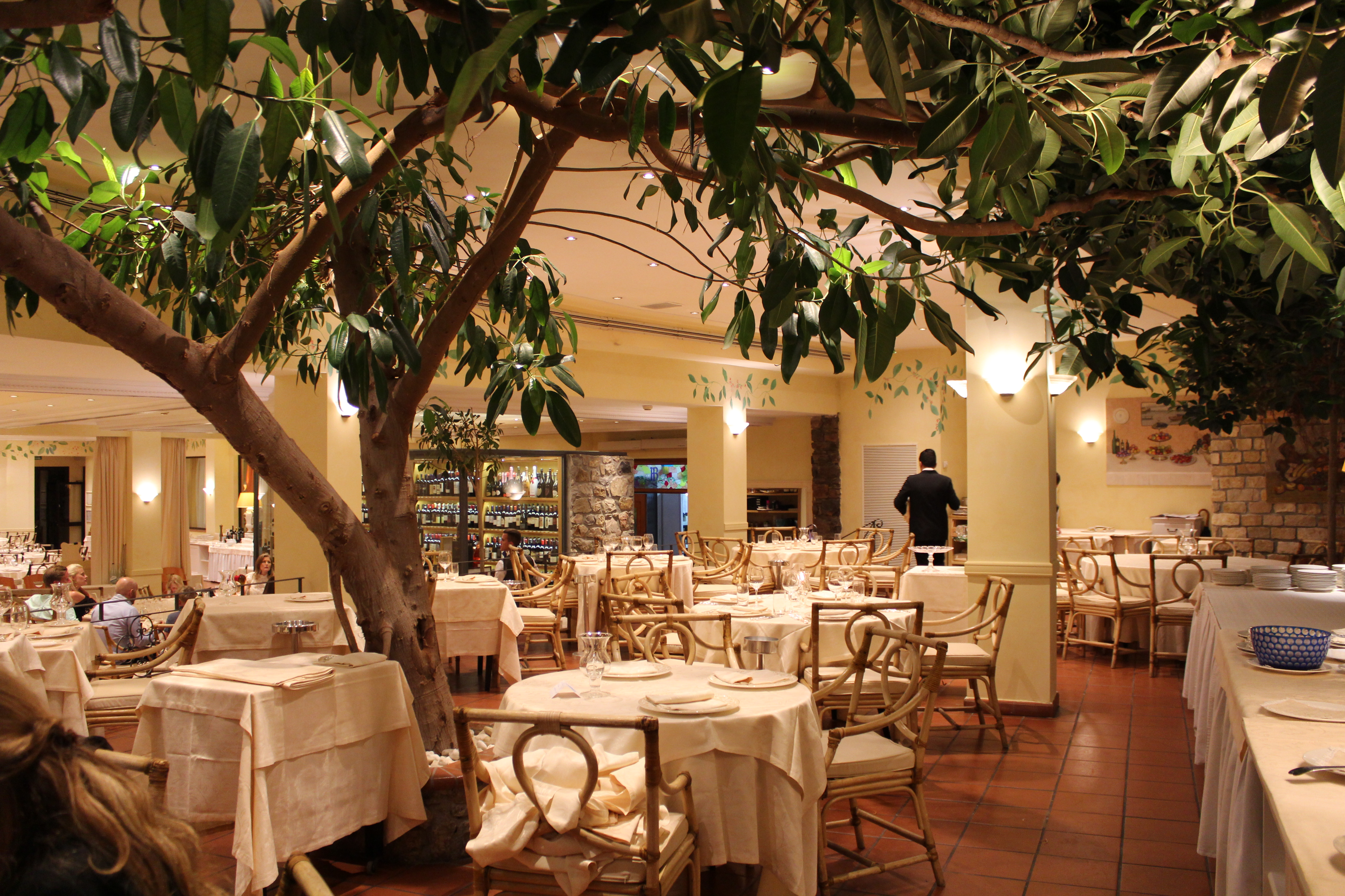 Il Ristorante centrale dell'Hotel Ermitage all'Isola d'Elba