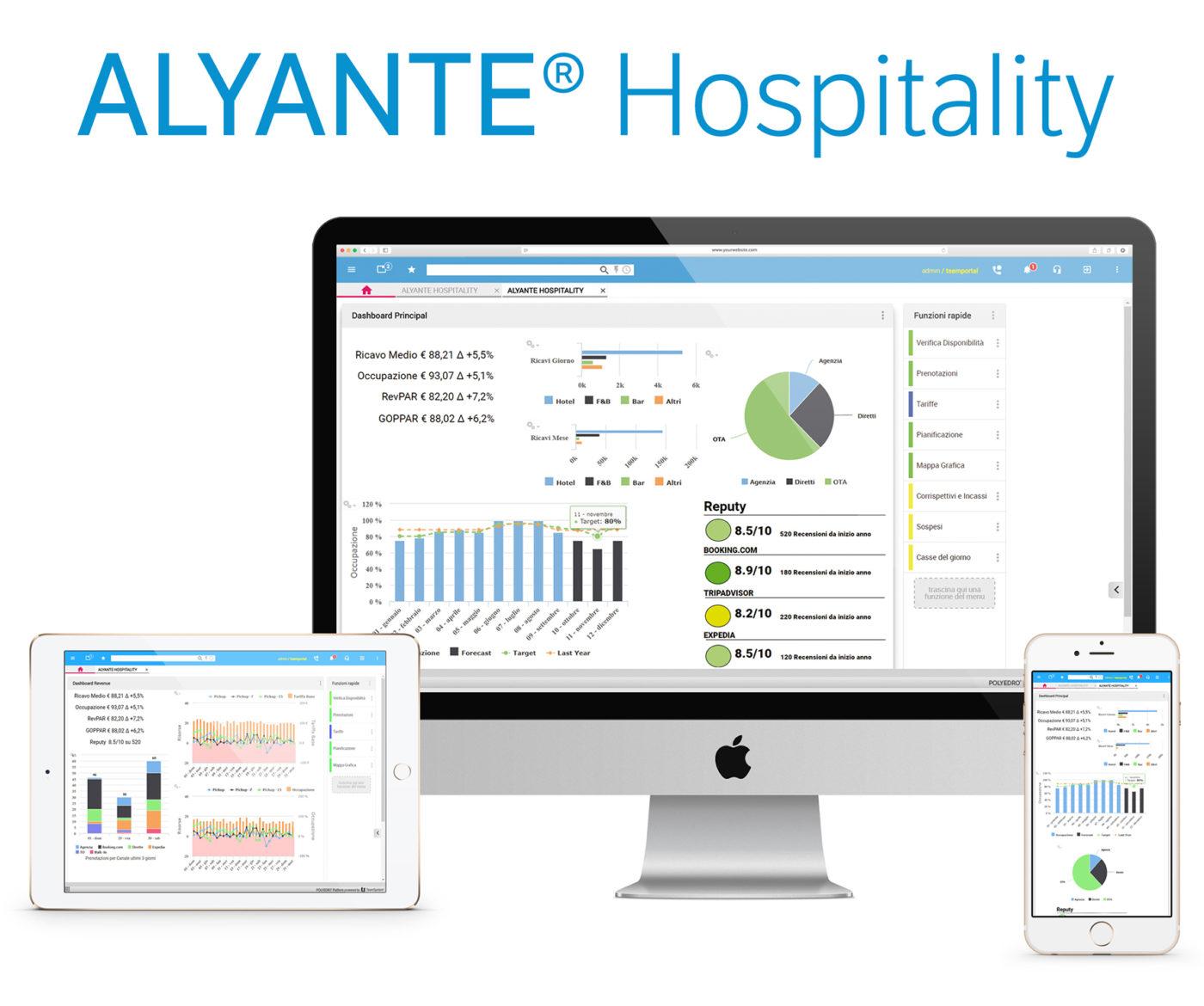gestire i big data con Alyante Hospitality tramite pc, tablet e smarphone