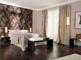 Una camera d'hotel allestita con i tessuti Trevira CS