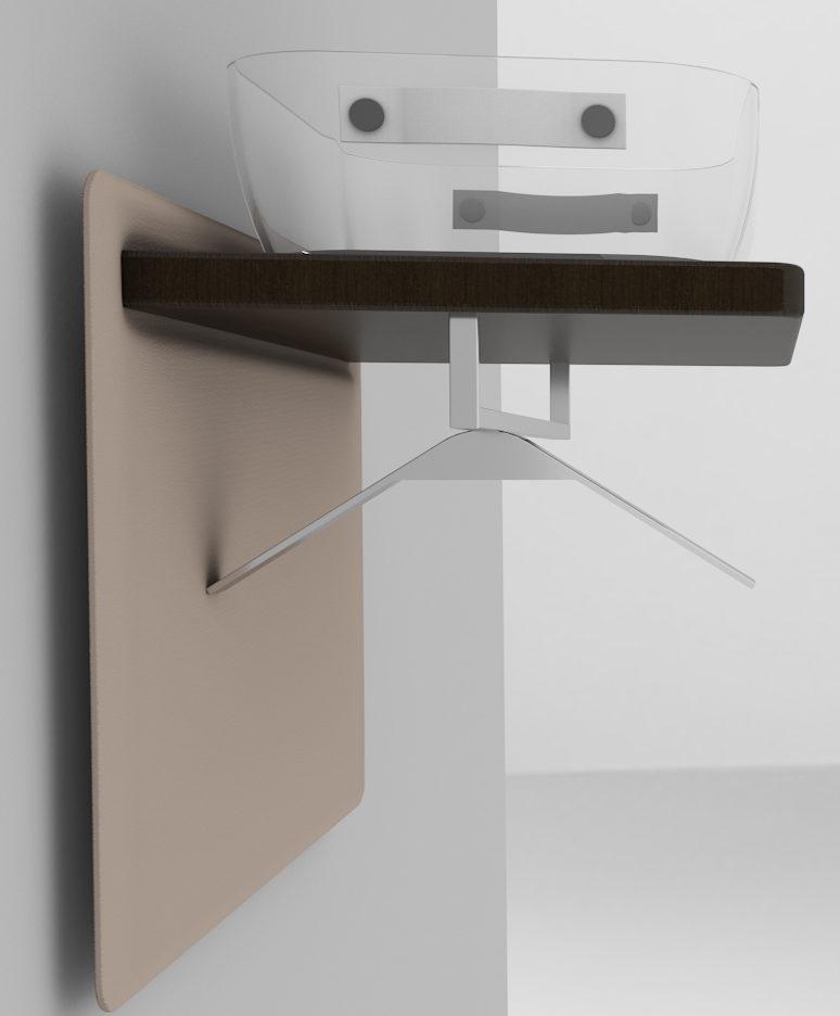 Camera Fly Set, contenitore removibile per gli effetti personali