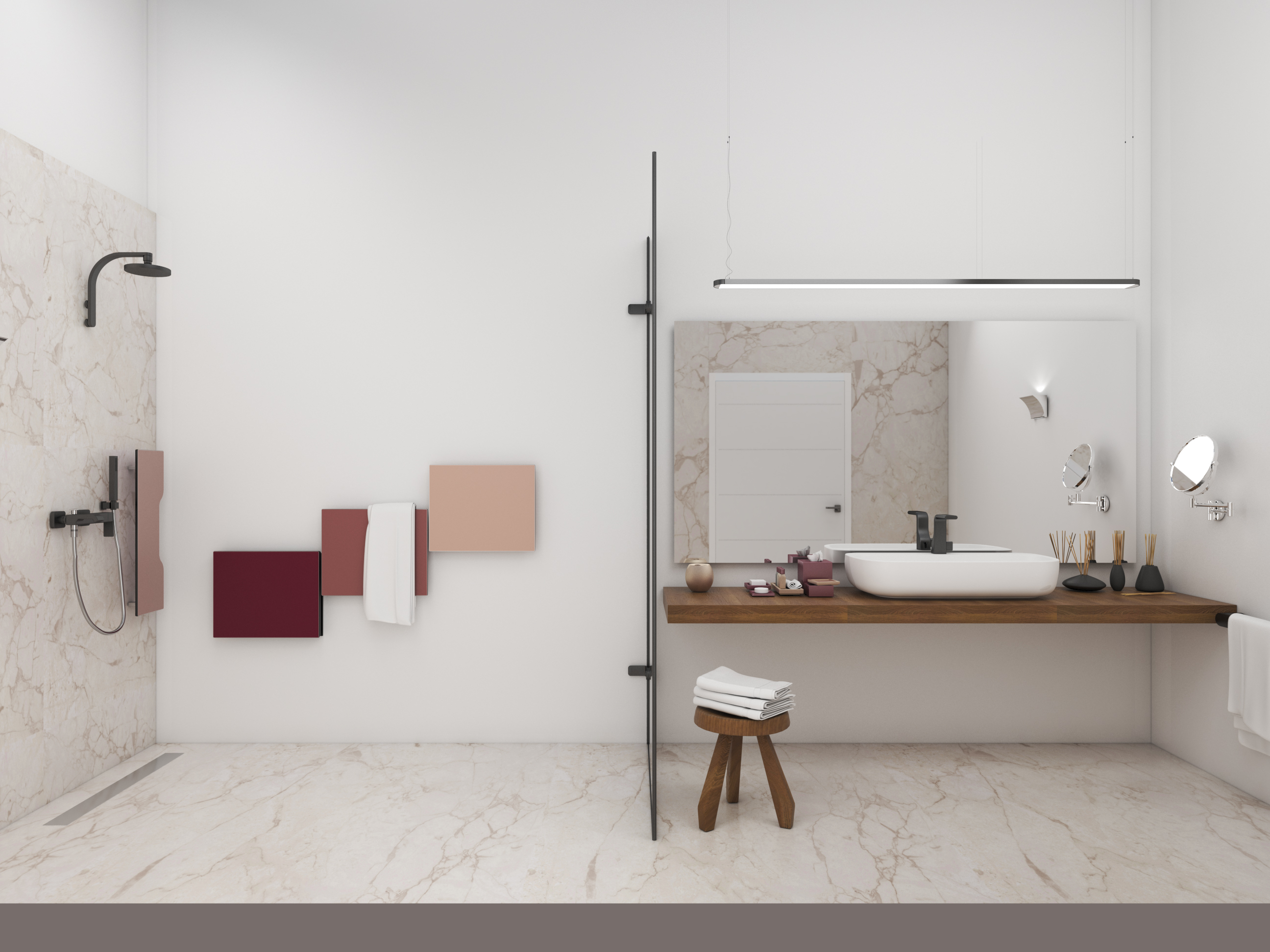 Un bagno del progetto