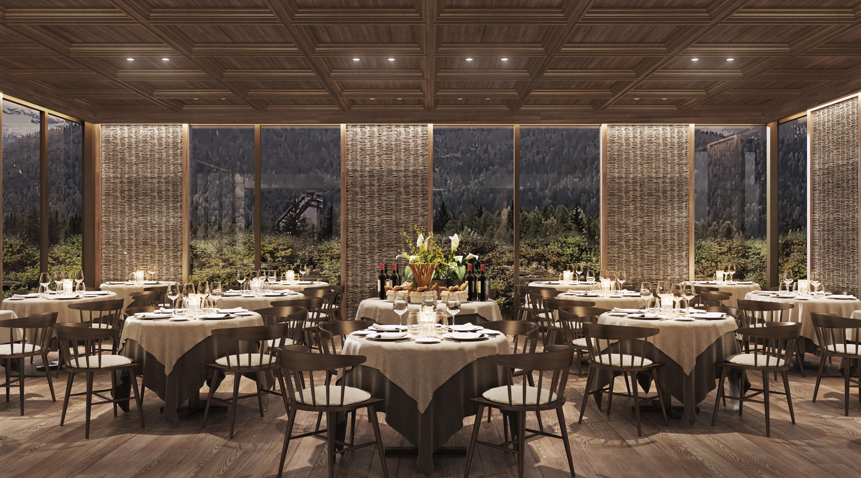 Il ristorante del Faloria Mountain Spa Resort