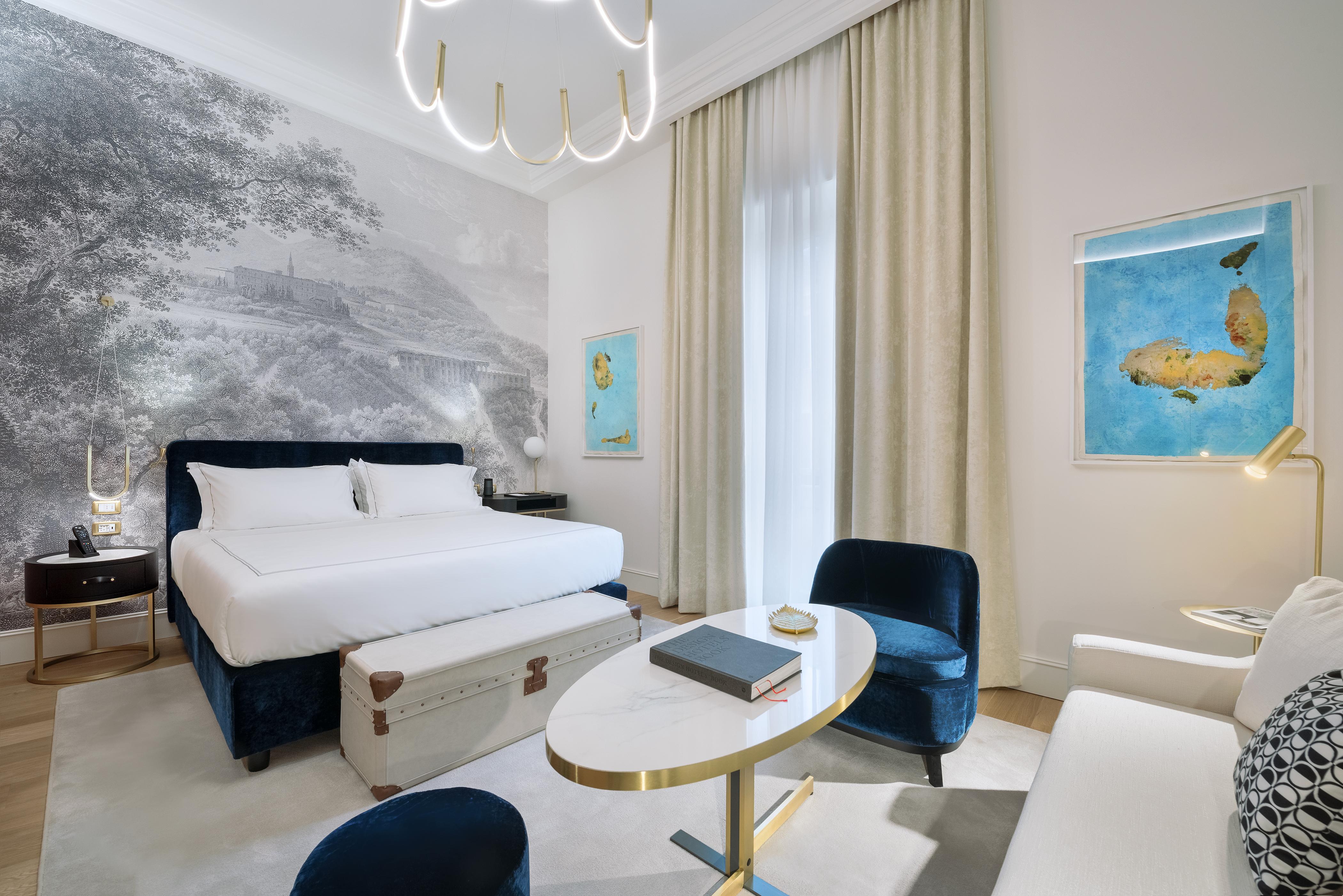 Una delle camere dell'Elizabeth Unique Hotel allestite con materassi Dorelan