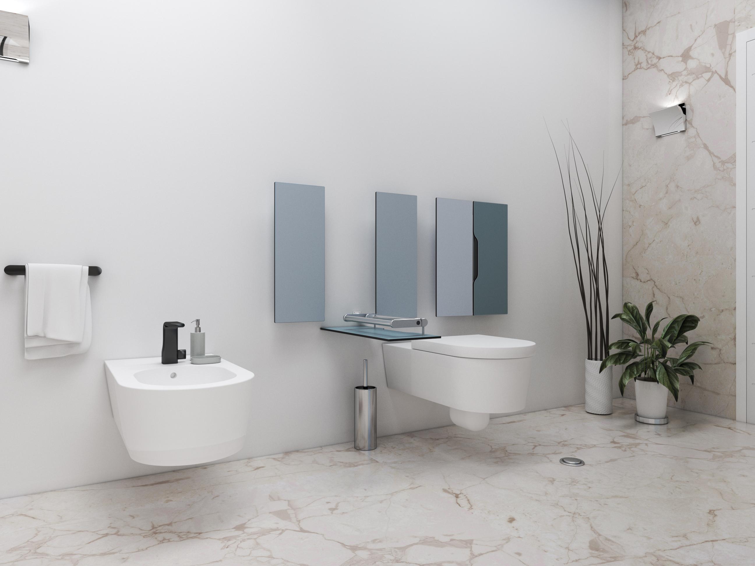 Un bagno con il sistema a scomparsa Ivy Collection