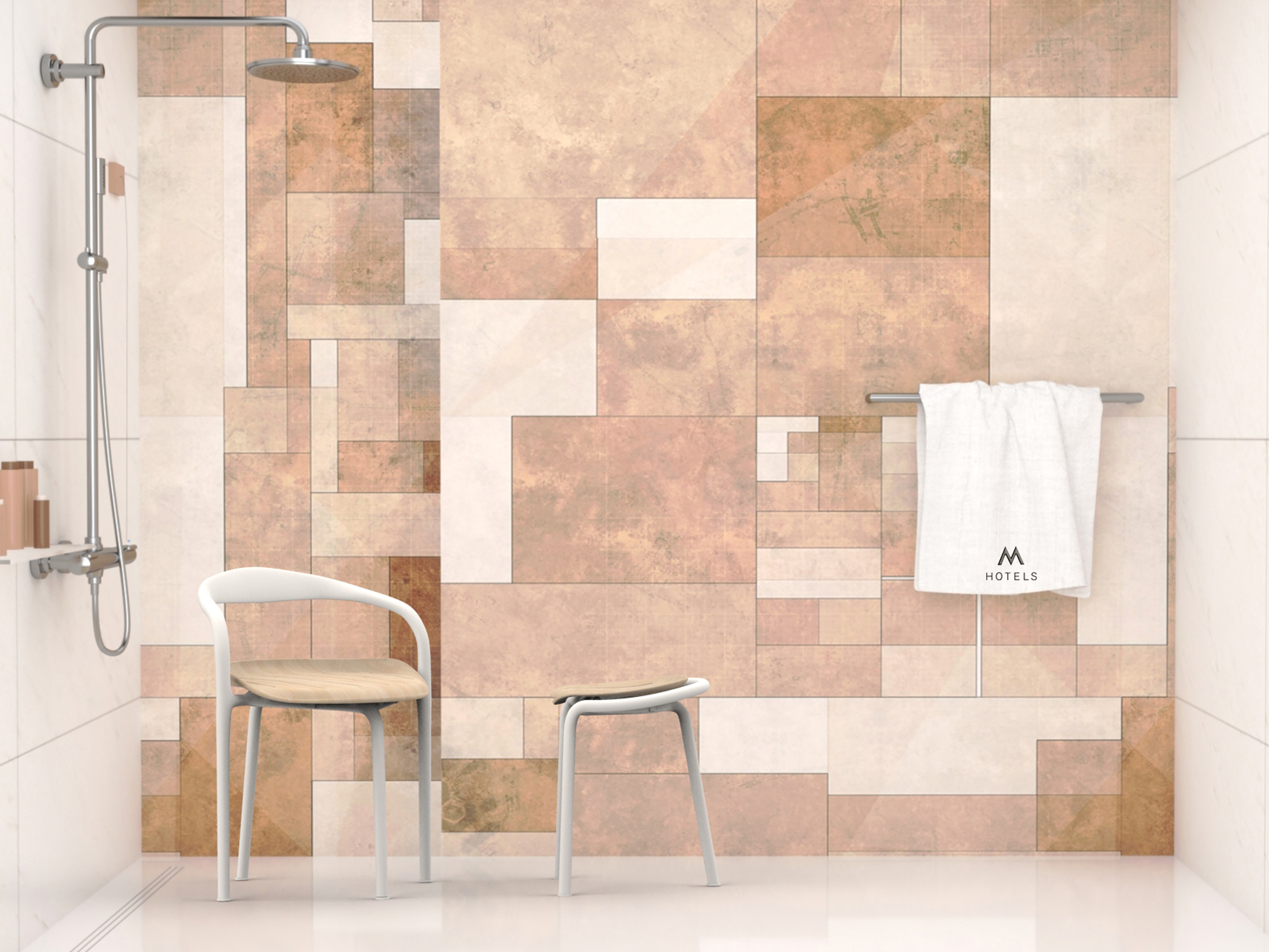 bagno Ordinary Collection con l'ordinary chair & stool