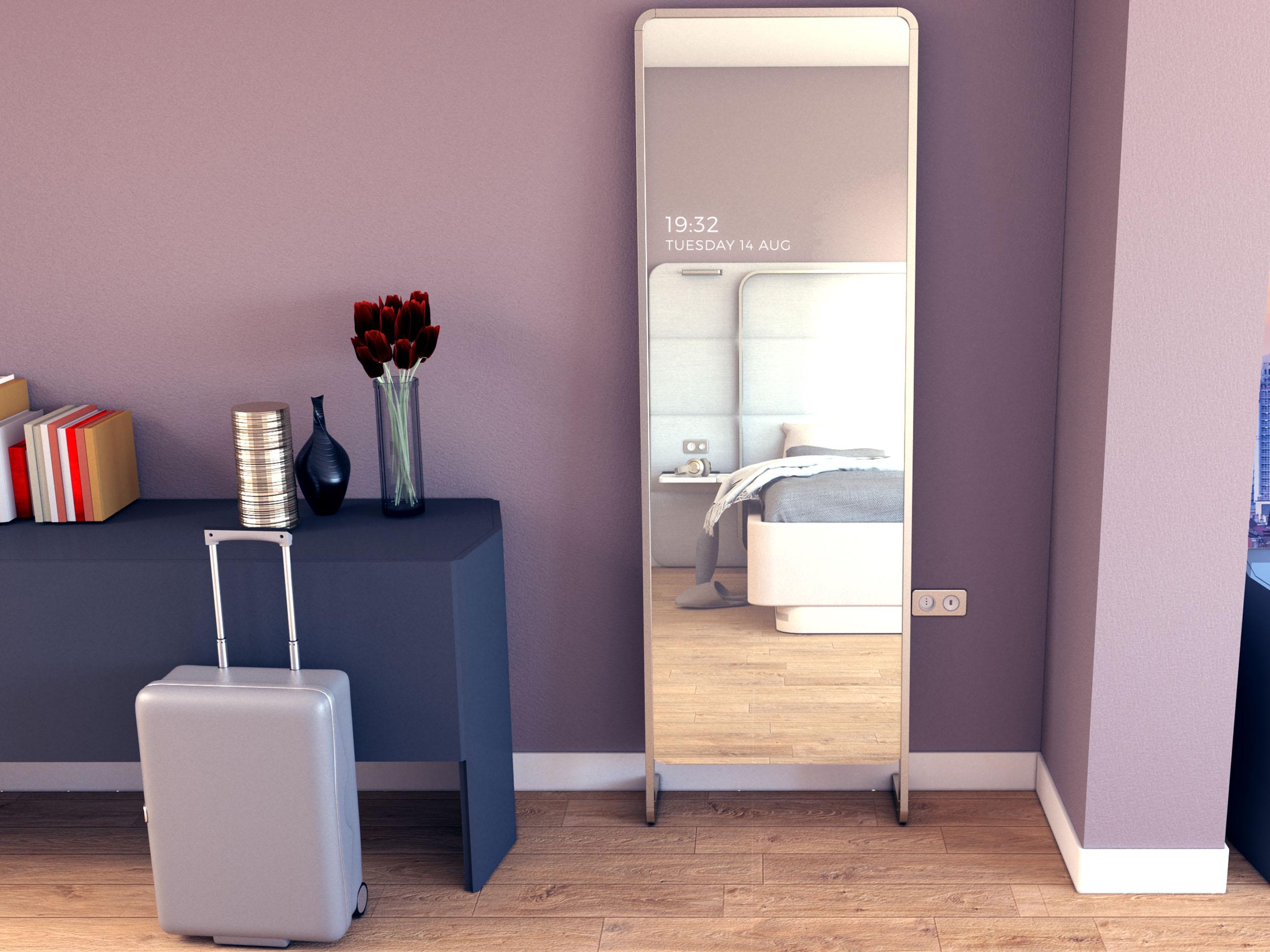 dettaglio della camera Twee con lo specchio