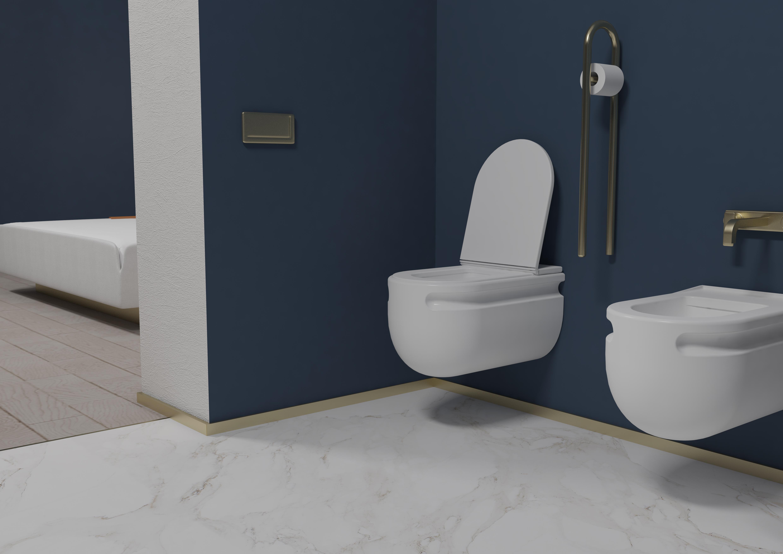 Un dettaglio del bagno del progetto Issa