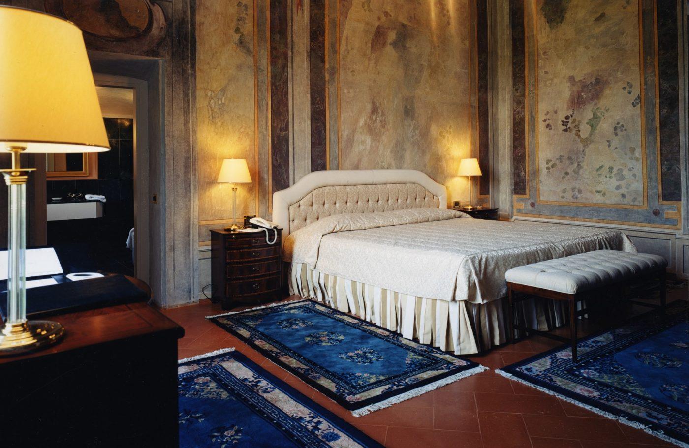 Una camera del Grand Hotel Villa Torretta