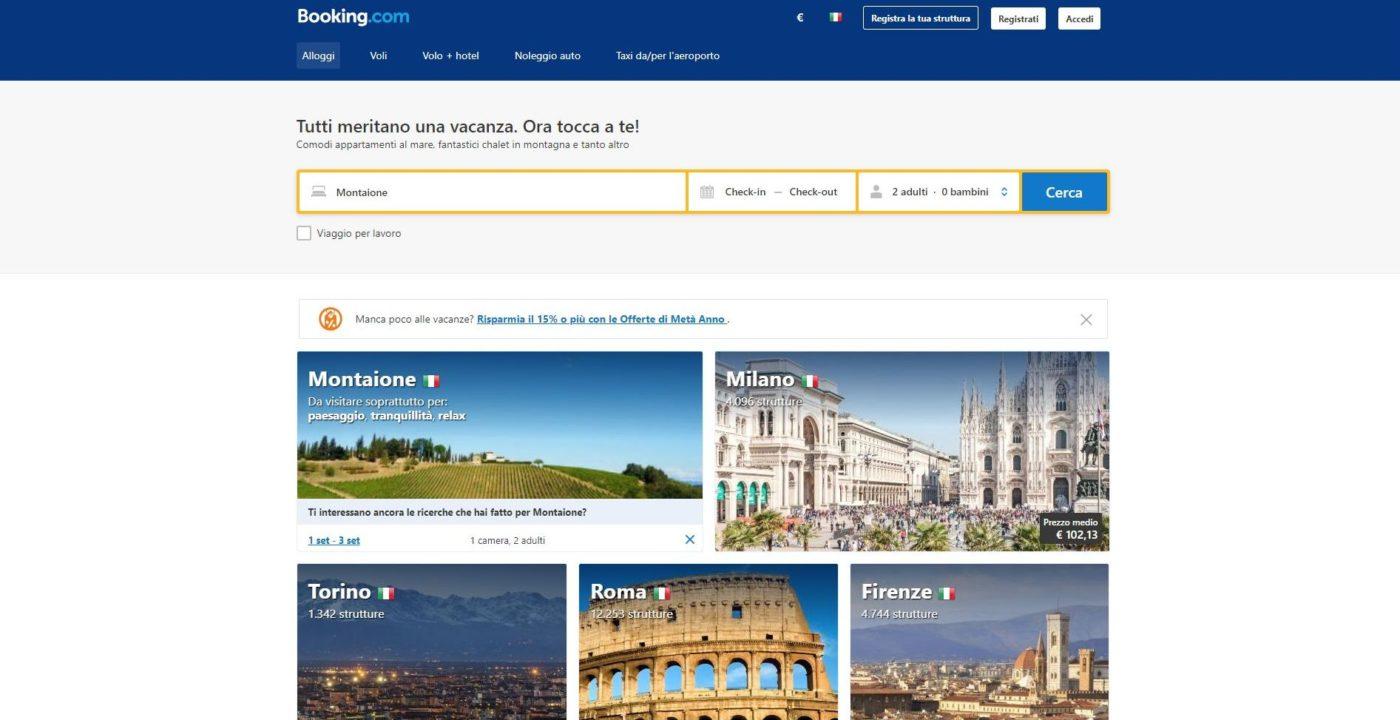 Il sito booking.com
