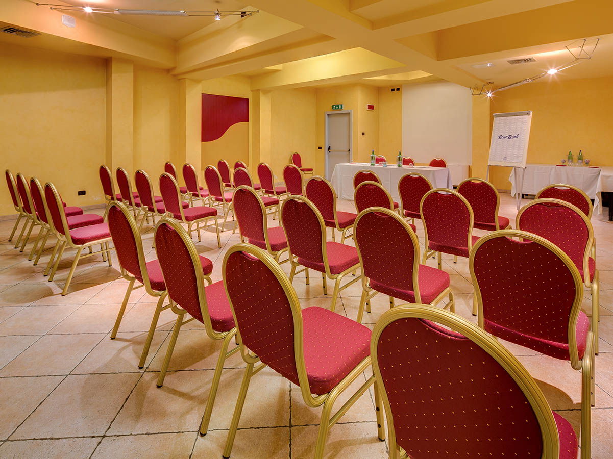una sala meeting dell'hotel
