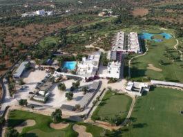 Una veduta aera attuale della Masseria Maizza presa in gestione da Rocco Forte Hotels
