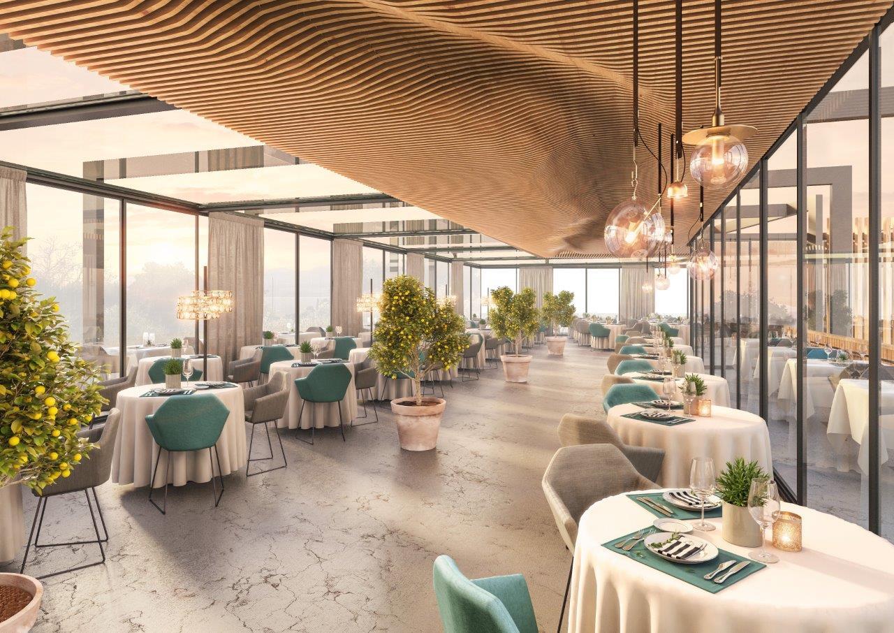 Quellenhof Luxury Resort Lazise, un rendering del ristorante