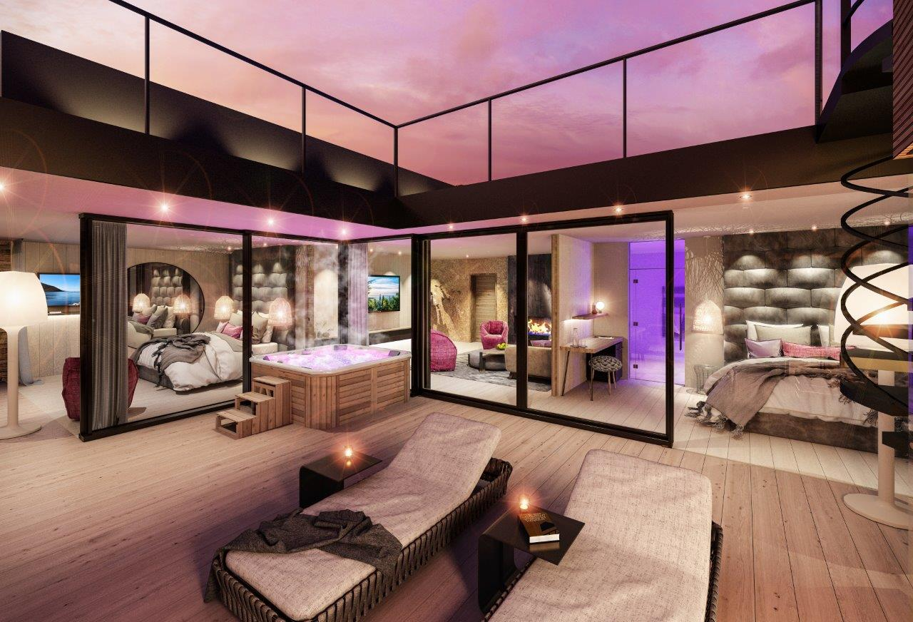 Quellenhof Luxury Resort Lazise, rendering della Penthouse Suite