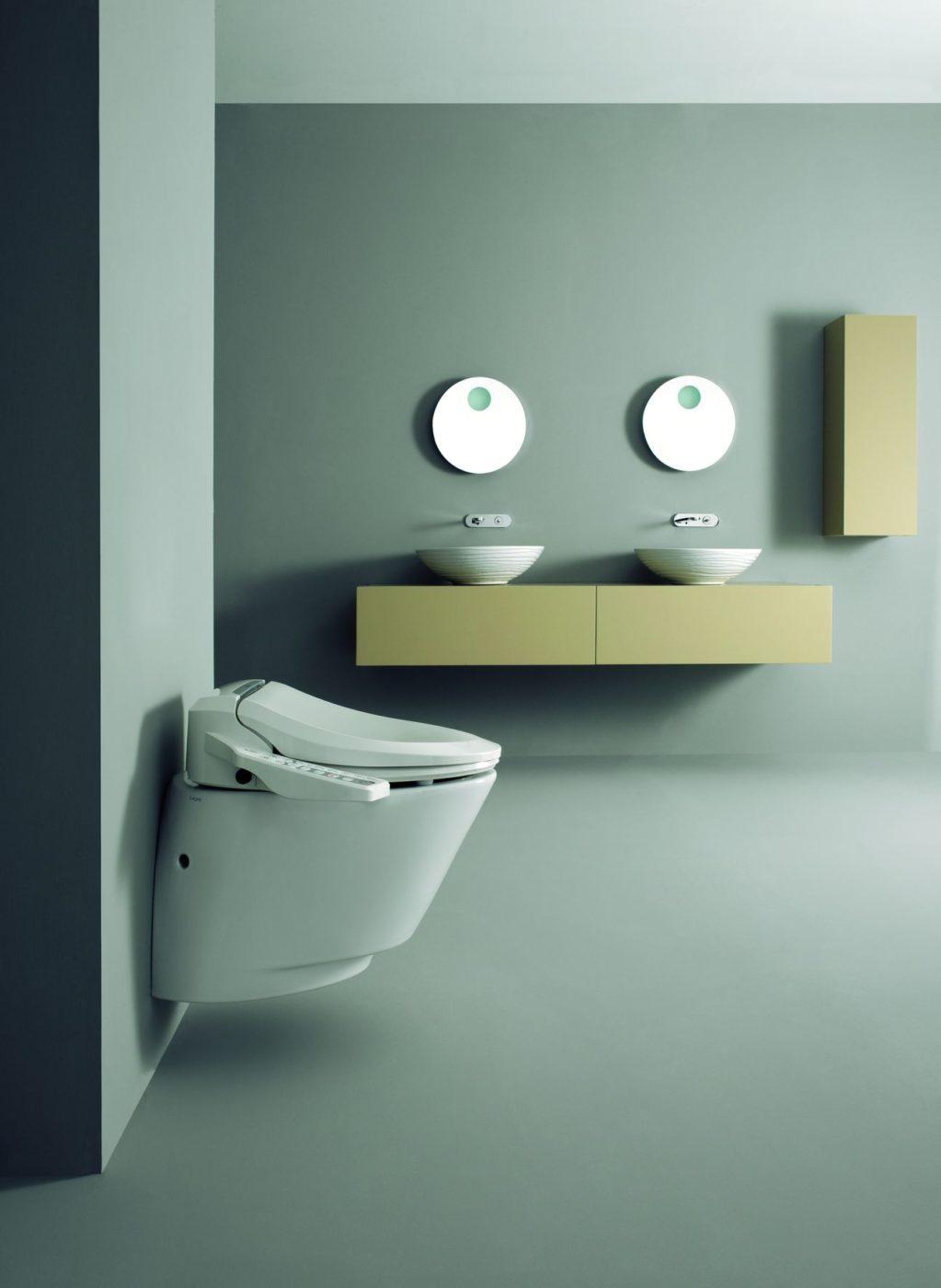 un wc con il sedile elettronico Uspa