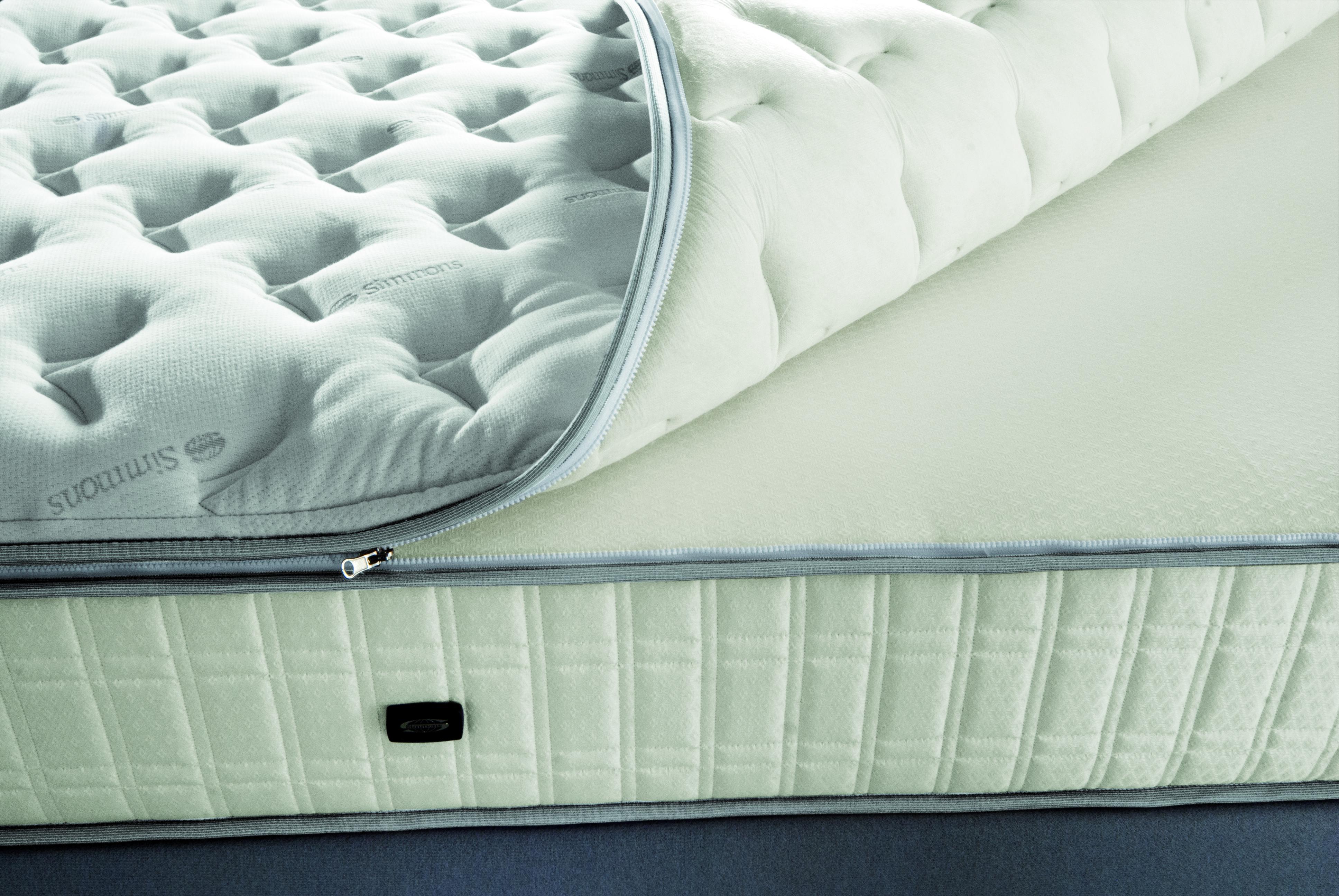 Materasso Simmons Platinum Beautyrest no-flip con Pillow Top Renew, rimovibile con cerniere longitudinali