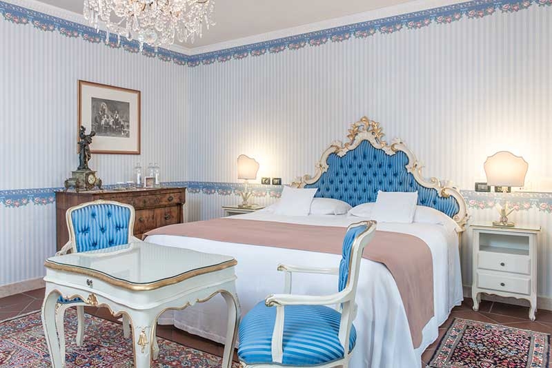 Una camere dell'Hotel Duchessa Isabella di Ferrara