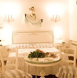Una camera dell'Hotel Principessa Leonora di Ferrara
