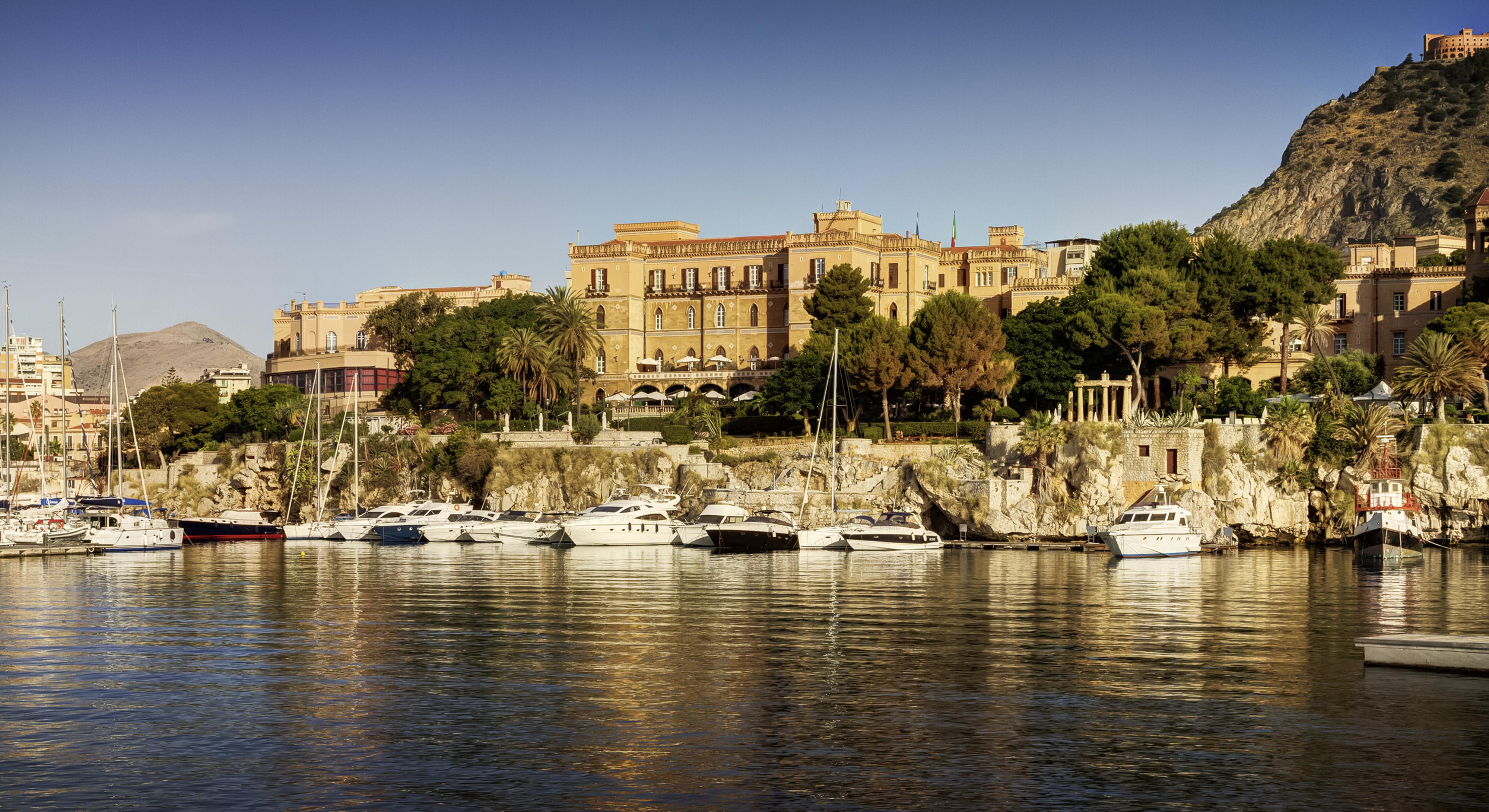 Una veduta del Grand Hotel Villa Igiea Palermo acquisito da Rocco Forte Hotels