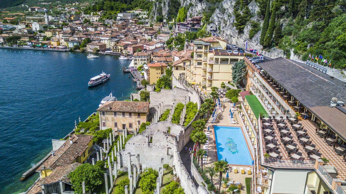 Una veduta aerea dell'Hotel Splendid Palace che ha scelto il gestionale Hotelcube