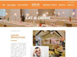 pagina del sito internet del nhow Milano dedicata al F&B