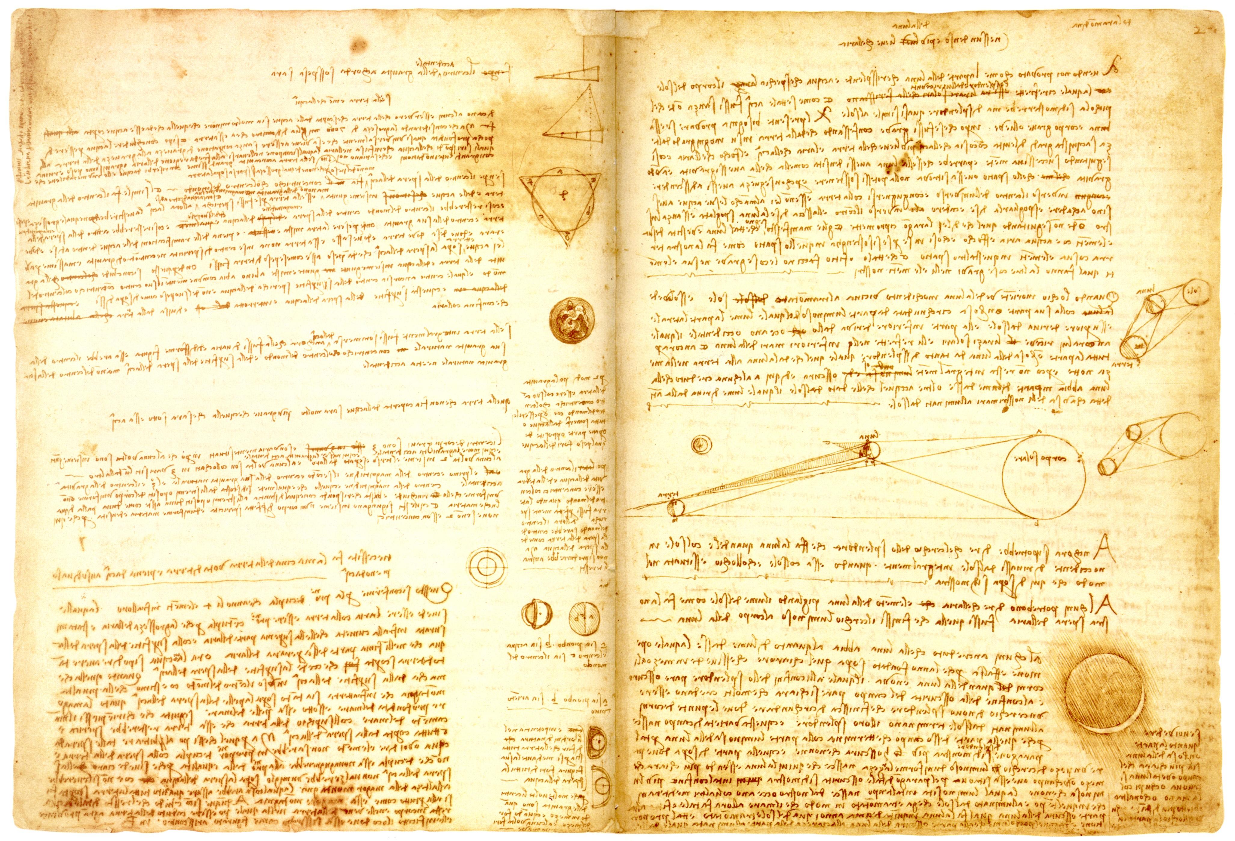 Leonardo da Vinci: il Codice Leicester in mostra a Firenze