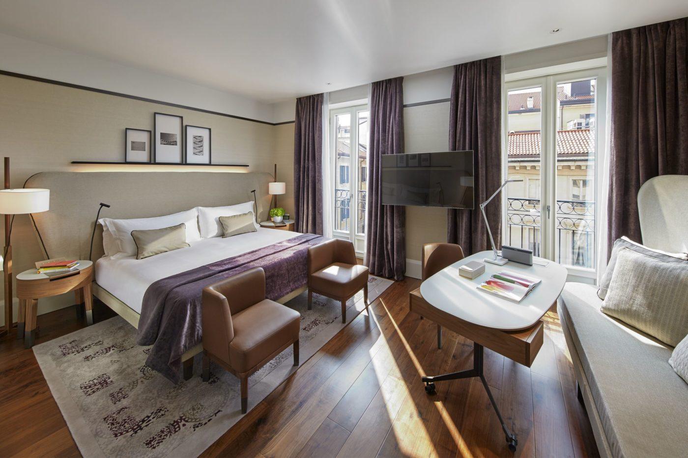 Una camera del Mandarin Oriental di Milano