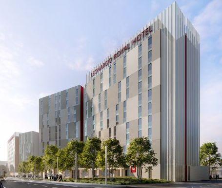 Un rendering del Leonardo Royal Hotel che aprirà a Mestre