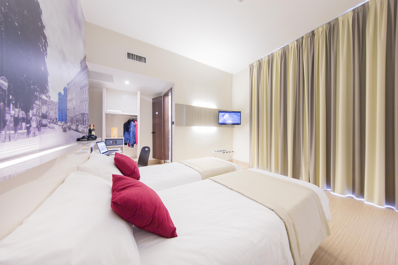Una camera del nuovo B&B Hotel di Palermo