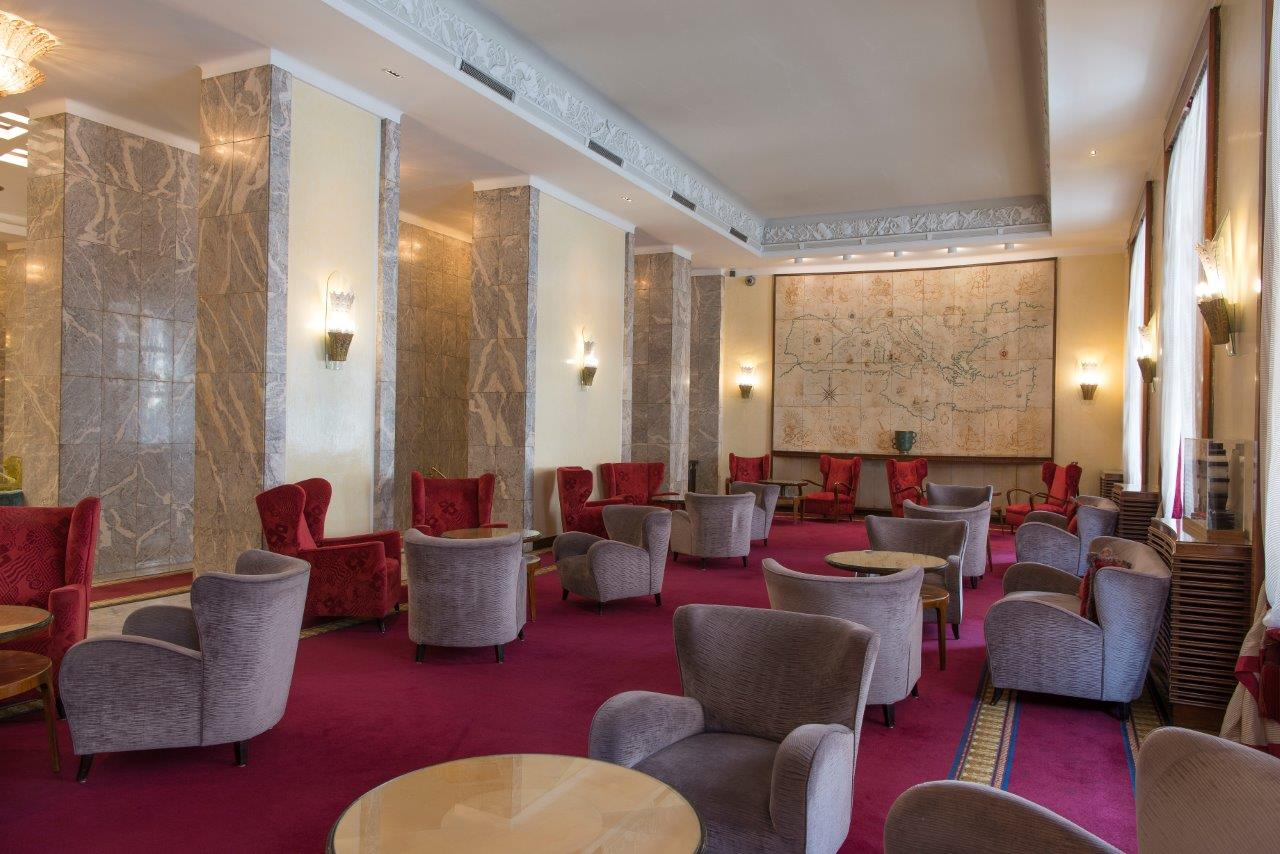 La sala Mappa dell'Hotel Mediterraneo