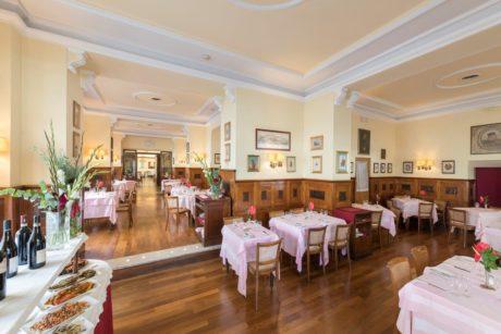 La sala ristorante del Massimo D'Azeglio di Roma