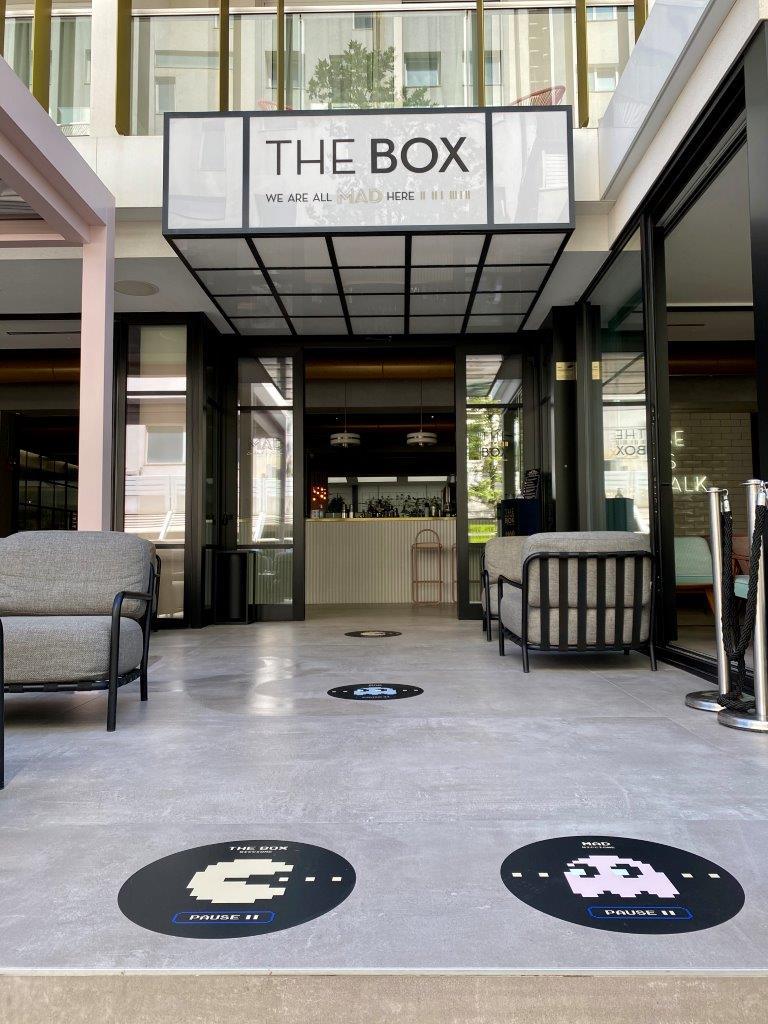 The Box Riccione, ingresso