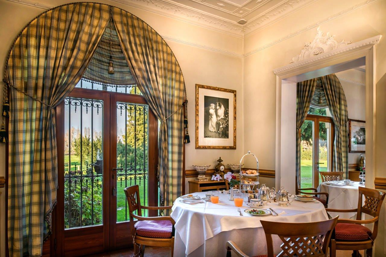 Il ristorante Romantik Hotel Villa Margherita nella Riviera del Brenta