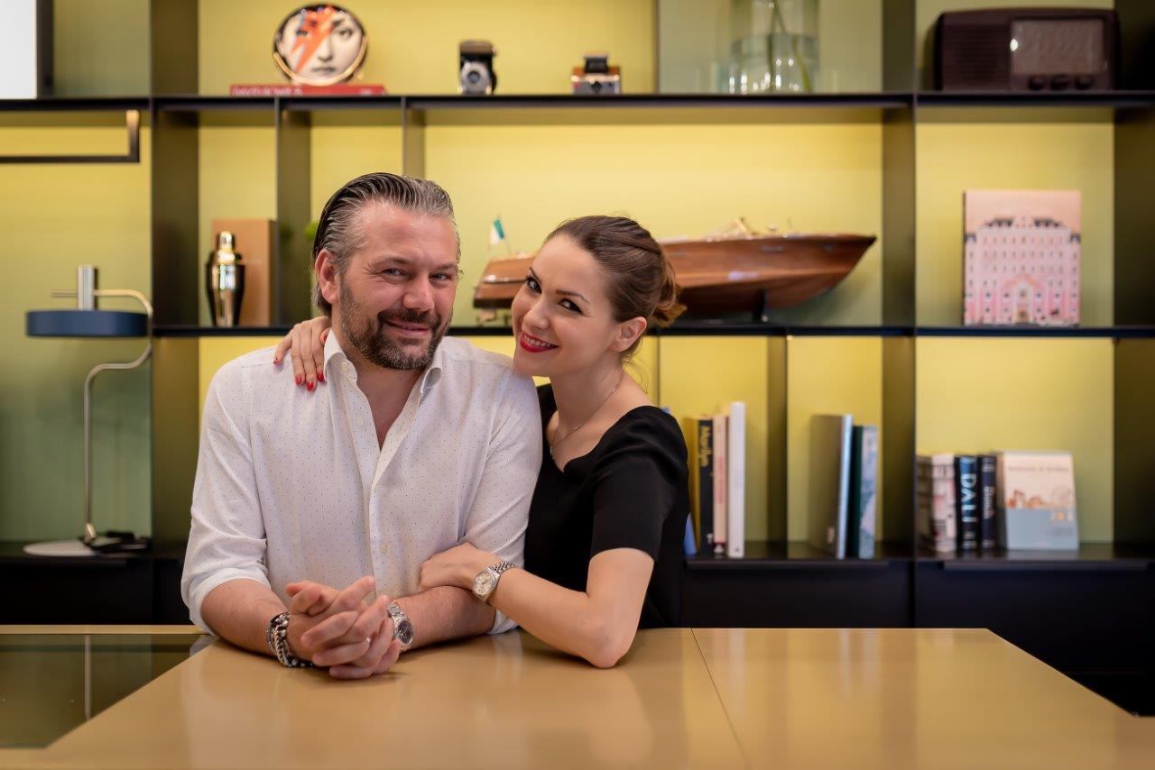 Alfredo Monetti e Marianna Chiaraluce, titolari del The Box Hotel a Riccione