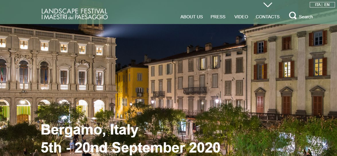 L'hotel page di Landscape -Maestri del Paesaggio che si svolge a Bergamo