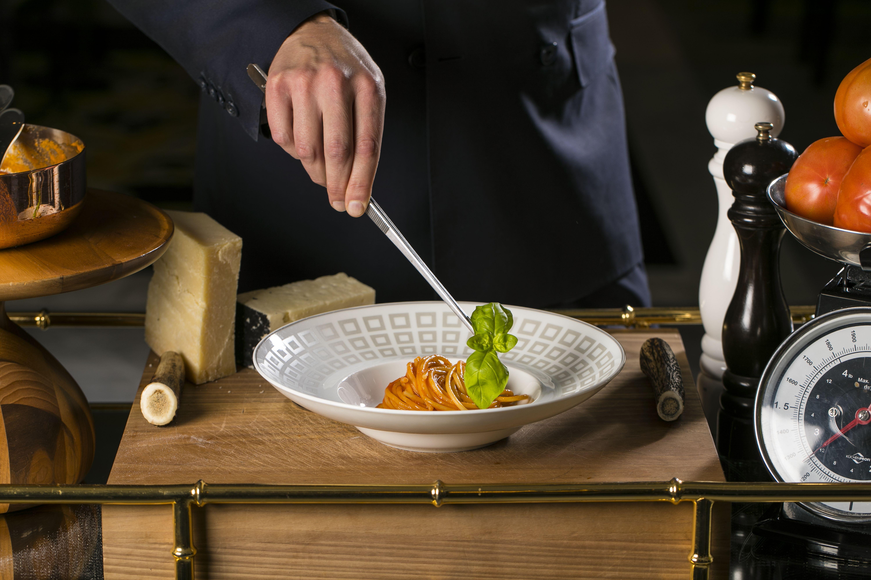 uno dei piatti serviti al The St. Regis Rome