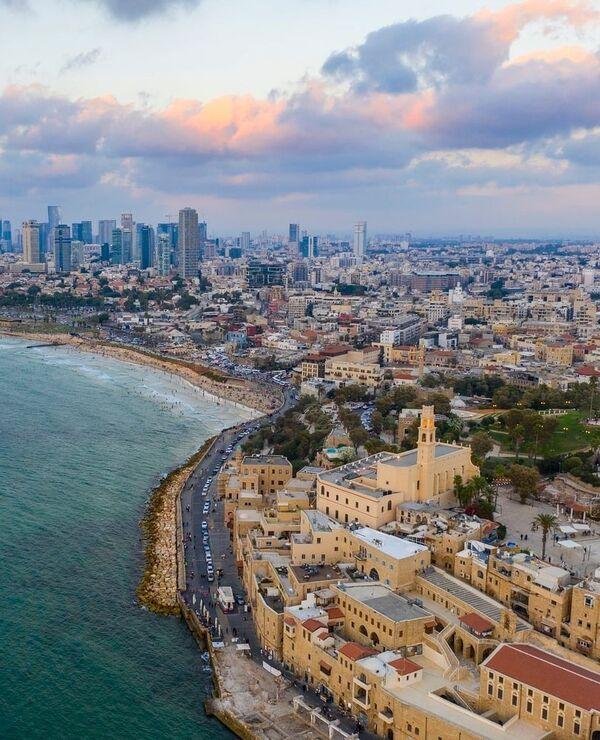 Una veduta aerea di Tel Aviv in Israele